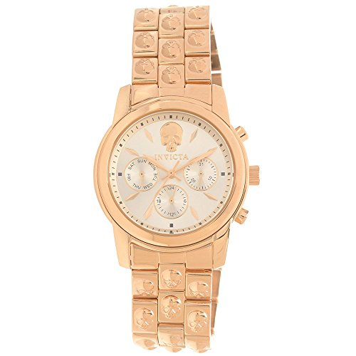 Invicta Angel Multi-Function Rose Dial Rose Gold-plated Ladies Watch 16892