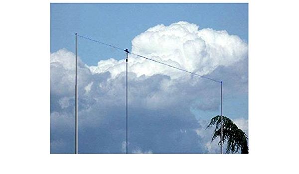 Antena dipolo hilera Windom bandas 40/80/20/10 m x 40 m-PKW ...