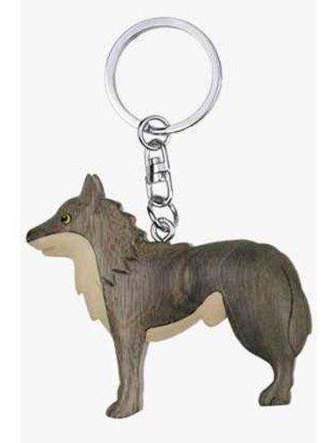 Tashuunka Geschenkartikel - Llavero (madera), diseño de lobo ...