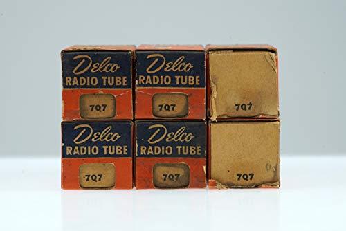 6 Vintage Delco 7Q7/CV899 Loctal Pentagrid Converter Heptode Tube Valve- BangyBang ()
