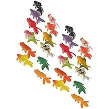 MagiDeal 24Pcs Plastic Goldfish Animal Toys Kids Birthday Party Gift Aquarium Decors