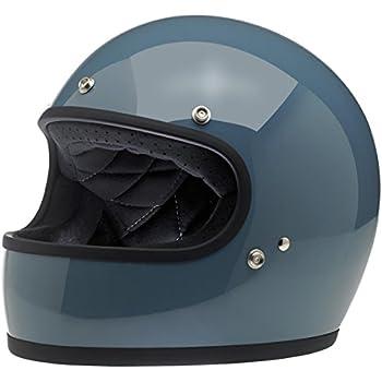 Biltwell Unisex-Adult Full-Face-Helmet-Style Gringo DOT Certified Full-Face Helmet (Baja Blue, Medium)