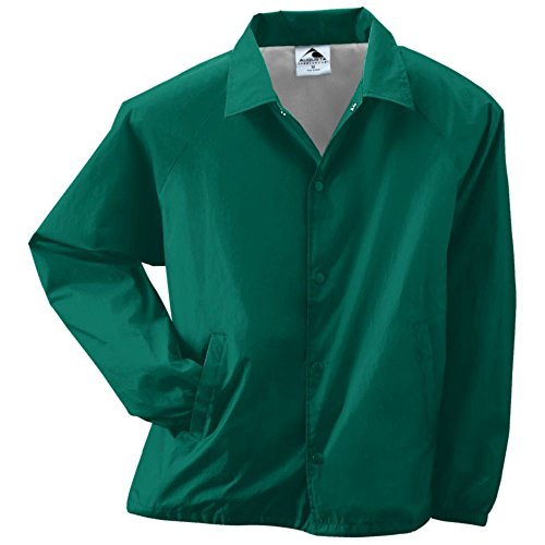 Augusta Activewear Nylon Coach's Jacket/Lined, Dark Green, ()