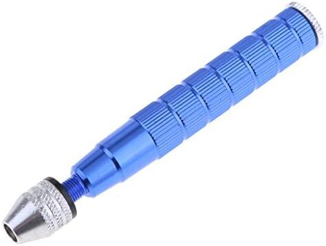 joyMerit ミニアルミハンドドリルハンドウッドプラスチックツイストマニュアルドリル0.3-3.2mm - 11x 1.5x 1.5cm;青