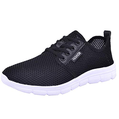 shoes22 Mesh Running Outdoor Casual Black Comfortable Soles Shoes Women Sports Riou Up Lace SgUwEPTwqn