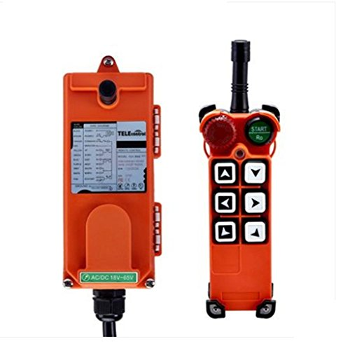 TOPCHANCES Industrial Wireless Universal Radio Remote Control for Overhead Crane AC/DC 1 Transmitter and 1 Receiver ()
