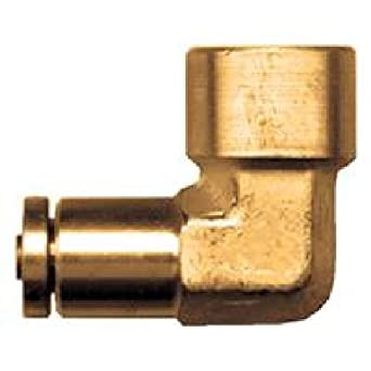 Tube to Female Pipe Elbow 90 Push-in Fitting 3//8 x 3//8-18 Brass 3//8 x 3//8-18 Tompkins 1570-06-06 D.O.T