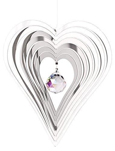 Woodstock Shimmers Crystal Heart Suncatcher Spinner