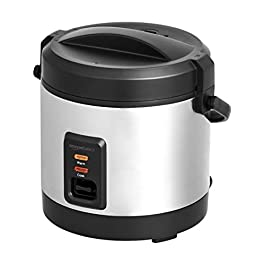 AmazonBasics – Mini Rice Cooker with Accessories, 4 Cups Cooked Rice