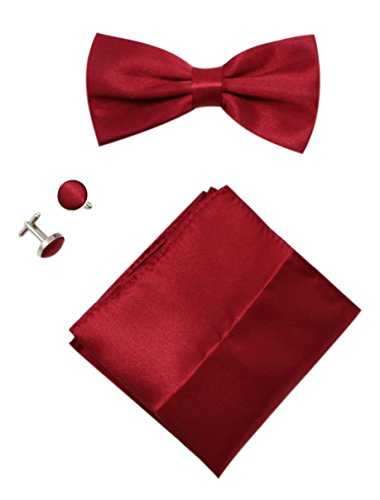 mens-solid-stain-pre-tied-tuxedo-bow-tie-cufflinks-pocket-square-set-by-jaifei-burgundy