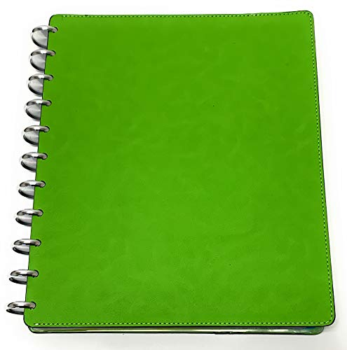 Talia Discbound Notebook, Customizable, Note Taking, Planner, Business - Professional Series, Green Apple, Letter (8.5in x 11in)