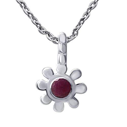 1 Ctw Ruby Pendant By Orchid Jeweliery|Ruby Pendant Necklace|Ruby Pendant Silver|Red Pendant Necklace|Sterling Silver Pendant Necklace|Sterling Silver Pendant Sets|Ruby Pendant Necklace For Women|
