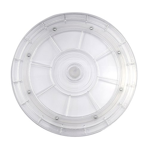 YAMAY® Lazy Susan Turntable Organizer 8 inch White Acrylic for Spice Rack Kitchen Corner Cabinet Dining Patio Table Cake Decorating Jewelry Art Crafts Refrigerator Pantry (Painted Corner Cabinet compare prices)