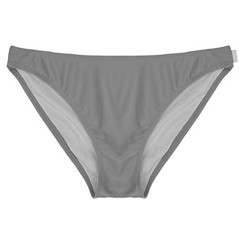 (DRSKIN Women's Swim Classic Bikini Bottom, Swim Shorts, Swim Skirt (Biki-PA Gray, M))