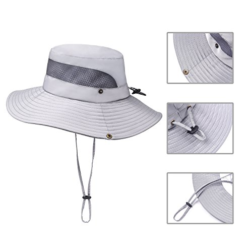 Jogoo Outdoor Boonie Sun Hat, Summer UPF 50 Protection Fishing Hat for Men& Women, Quick Drying and Breathable, Wide Brim Hat for Camping, Hiking and Boating.