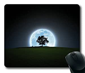 Beautiful Moon Behind A Tree Masterpiece Limited Design Oblong Mouse Pad by Cases & Mousepads by runtopwell