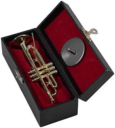 Creative Mini Trumpet Un buen regalo para niños Mini Trompeta Escritorio Deorative Ornamento de decoración para niños Mini Trompeta con estuche - Dorado: Amazon.es: Instrumentos musicales