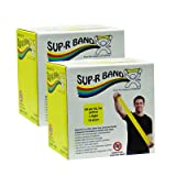 Sup-R Band Latex Free Exercise Band - Twin-Pak - 100 Yard - (2 - 50 Yard Boxes) - Yellow - 10-6331