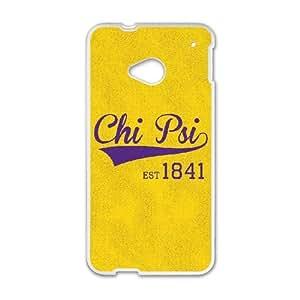 Yellow Chi Psi 1841 HTC One M7 Cell Phone Case White Fantistics gift SJV_046272