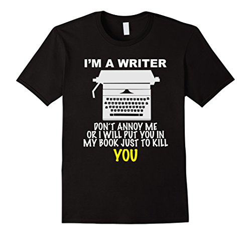 Writer T-Shirt for Real Authors - Male XL - Black
