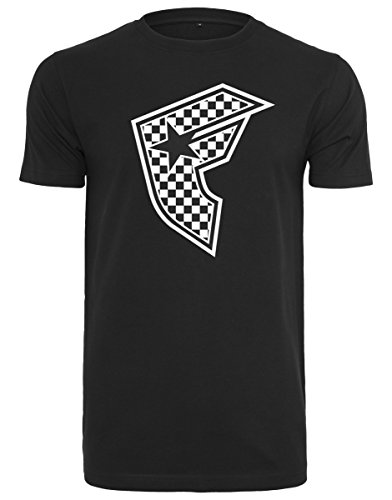 Tee Maglietta Stars Checker And Badge Herren Straps Famous Black Tw7YqHF