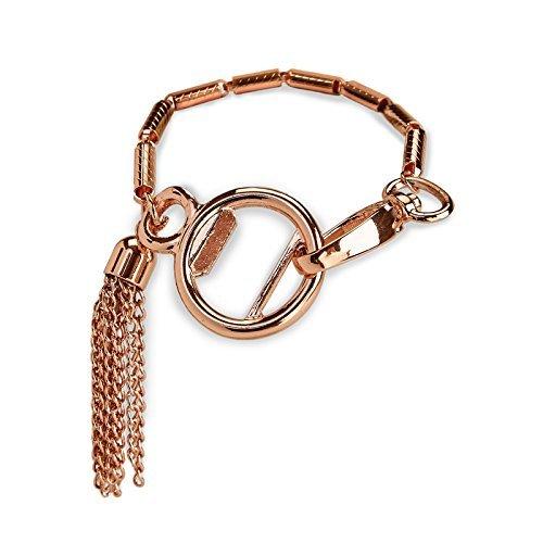 Rose Gold Copper Tassel Stylish Bottle Opener Womens Bracelet