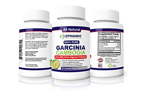 Pur Garcinia Cambogia Extrait avec 80% HCA- le plus puissant Dr formule recommandée - toutes les coupe-faim naturel, plus Carb Blocker. Sélectionnez la perte du supplément de prime Poids, Fat Blocker, Fat Burner, Dynamic Solutions en santé Garcinia Cambog