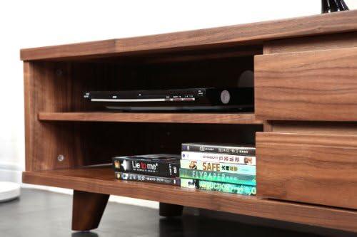 Miliboo - Mueble TV diseño Nogal Fifties: Amazon.es: Hogar