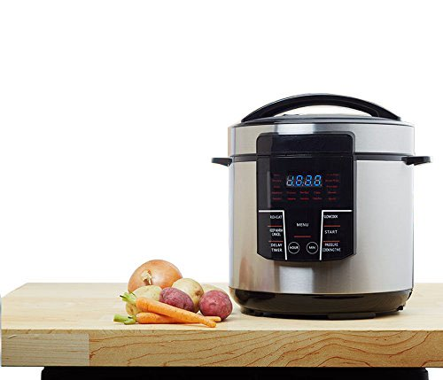 Multipot Electric Digital 6 Qt Multi Programmable Pressure Slow Cooker with Nonstick Insert Pot and Trivet - Delay Timer Warmer Steamer Rice Cooker Saute Pressure cook saute rice yogurt steam -One Touch LED by Unique Imports