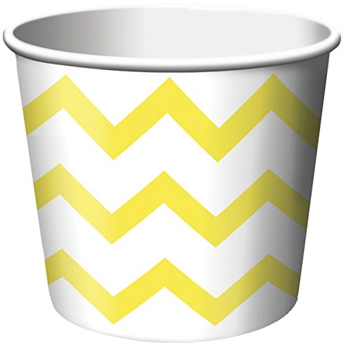 Creative Converting PaperTreat Cups, Chevron Mimosa, 6-Count ()