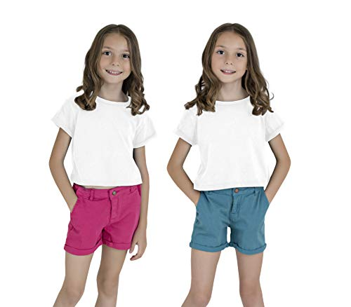 KIDPIK Classic Shorts 2PACK-16- Caneel Bay/Pink - Classic Bay Shorts
