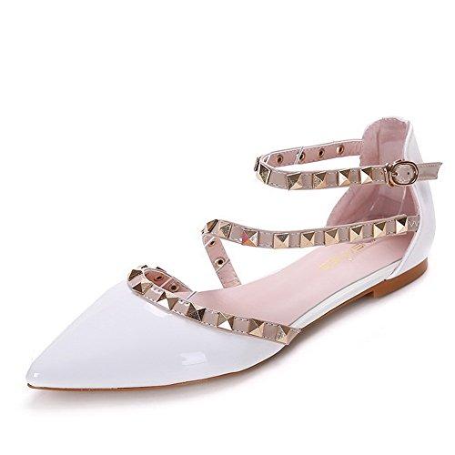 Aalardom Teen-toe-teengesp Zonder Hiel Extrakleurig Lakleder Zacht Damesmateriaal-schoenen Wit