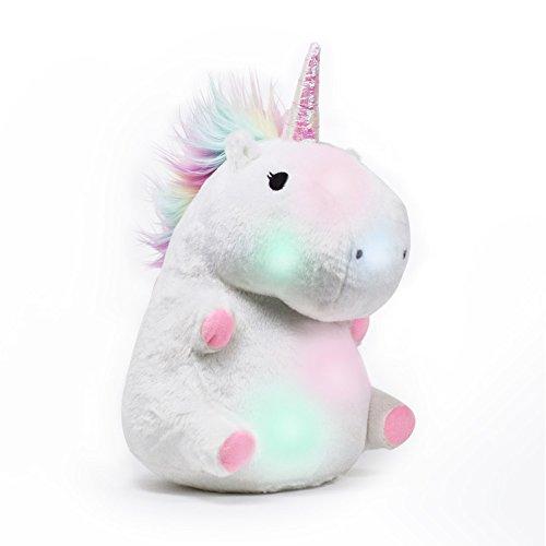 SMOKO Large, Wireless Color Changing LED Light Up Plush Unicorn Pillow