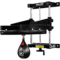 Valor Fitness Boxing Speed Bag Platform with Wheel Crank for Easy Adjustment, Speed Bag Included
