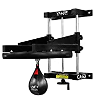 "Valor Fitness CA-53 Adjustable 2"" Boxing Speed Bag Platform with Wheel Crank for Easy Adjustment, Speed Bag Included"