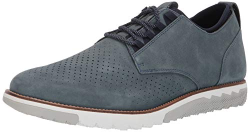 Hush Puppies Men's Expert Perf Oxford Loafer, Storm Nubuck, 11.0 M - Oxford Shoes Puppies Hush