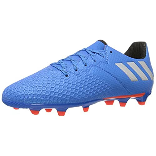 adidas Performance Kids Messi 163 Firm Ground Soccer Cleats Shock Blue Matte  Silver Black 6 M US Big Kid
