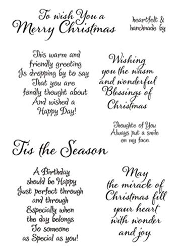 Merry Christmas Sentiments Sayings Phrase Rubber Clear Stamp/Seal Scrapbook/Photo Decorative Card Making Clear Stamp