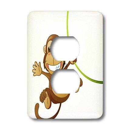 3d Rose 3dRose LLC lsp_37462_6 Cute Cartoon Monkey On Gre...