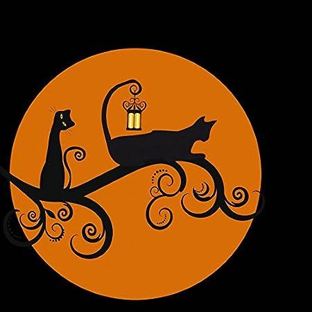 1art1 Gatos - Gatos Negros En La Noche De Luna Llena Póster ...