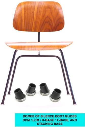 Eames CHAIR RUBBER BOOT GLIDES FEET for LCM DCM Herman Miller H-base x