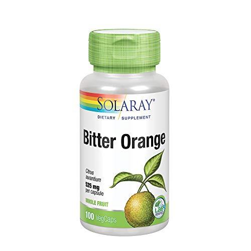 Solaray Bitter Orange Fruit 525mg   Healthy Digestion, Appetite, Weight Management & Exercise Support   Non-GMO & Vegan   100 VegCaps