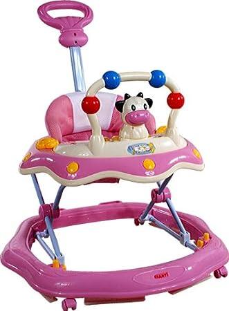 Baby Walker - Andador con actividades - Primeros Passos ARTI 6320AT Cow/Vaca Pink