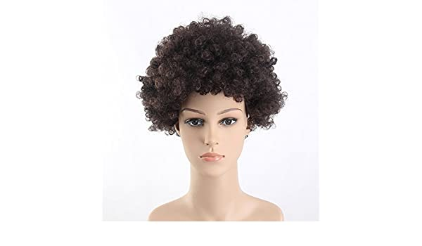 Amazon.com : Stfantasy Wigs for Black Women Cosplay Costume Pixie Afro Curly Synthetic Disco Hippie 60s 70s Peluca 11 Inch 115g w/ free Wig Cap and Clips, ...
