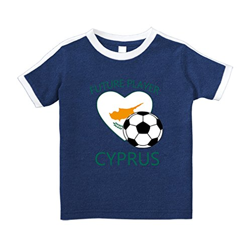 Cute Rascals Future Soccer Player Cyprus Cotton Short Sleeve Crewneck Unisex Toddler T-Shirt Soccer Tee - Royal Blue, - Cyprus Tee