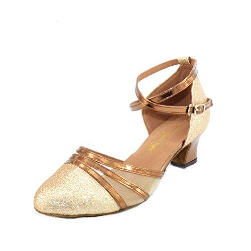 Baile de salón de Salsa Fondo de 8Inch 8 pie del s Zapatos 22 Latino Baile Longitud Zapatos Tacón Baile Blando Alto Zapatos A de Mujer 3CM za78aT