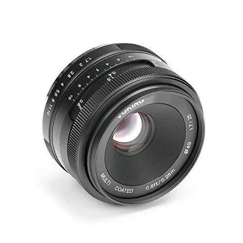 Voking 25mm f/1.7 Large Aperture Wide Angle Lens Manual Focus Lens for Fujifilm X-Mount Mirrorless Cameras