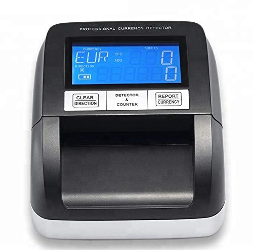 Counterfeit Money Detector   Automatic Fake Currency Detector   Powerful and Easy to Use with Compact Design   Portable and Suitable for Multi -Banknote   Four Way Scan