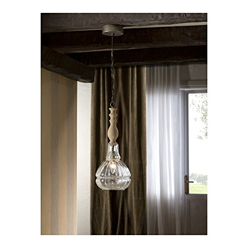Schuller Spain 564369I4L Traditional Clear Material Ceiling Pendant 1 Light Dining Room, Living Room LED, Patina | ideas4lighting by Schuller