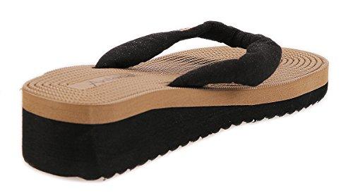 Matyfashion Stylische Damen Slipper, Badeschuhe, Sandalen für Freizeit,Strand und Urlaub BF 00899 Schwarz